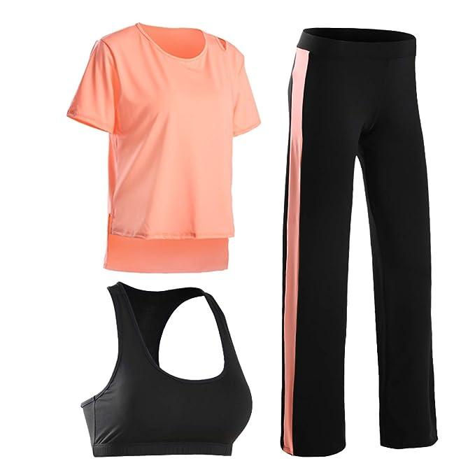 Amazon.com: Fitness - Conjunto de 3 piezas de yoga para ...