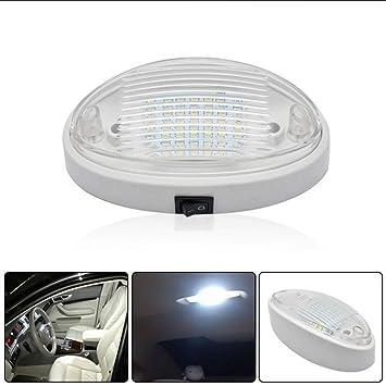 MASO Car Interior Light 12V LED Roof Ceiling Dome Light Reading Switch Lamp for RV Campervan Motorhome Boat Kitchen Living Room