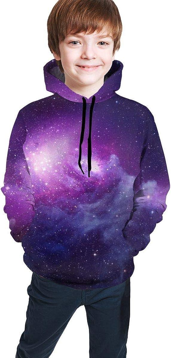 Kjiurhfyheuij Teens Pullover Hoodies with Pocket Galaxy Star Cloud Fleece Hooded Sweatshirt for Youth Kids Boys Girls