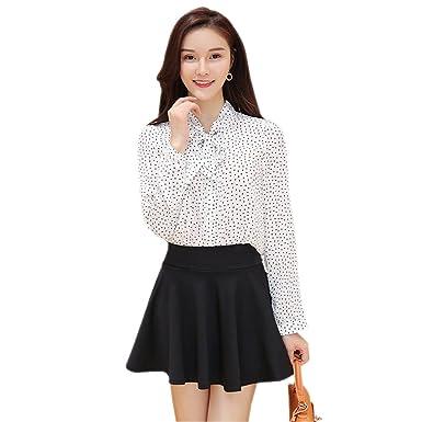72ee8e85a3e BOZEVON Women s Plus Size Solid Color High Waist Stretch Waist Shorts Liner  Skirt