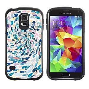 """Hypernova Slim Fit Dual Barniz Protector Caso Case Funda Para Samsung Galaxy S5 [Natación del arte abstracto de la metáfora""""]"""