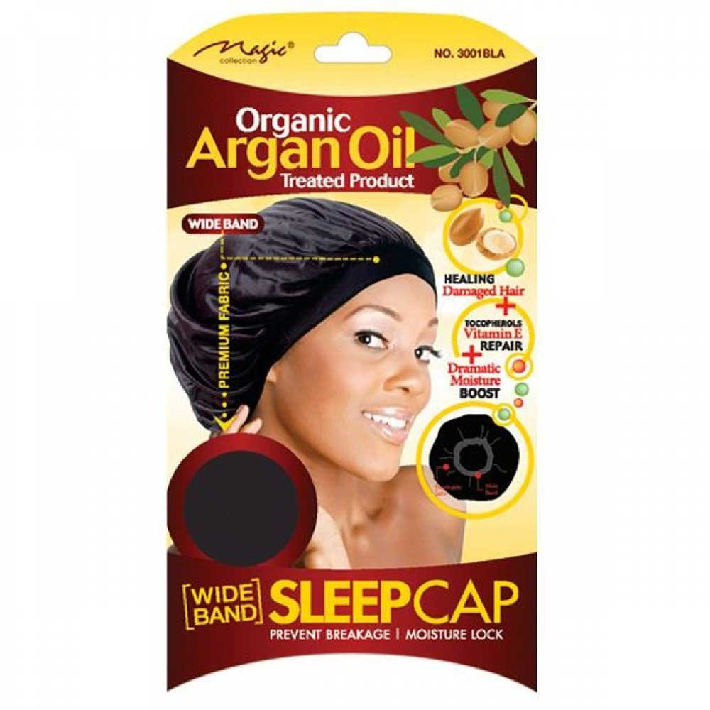 ORGANIC ARGAN OIL TREATED SLEEP CAP FOR PREVENT BREAKAGE(3001)