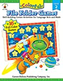 img - for Colorful File Folder Games, Grade 2: Skill-Building Center Activities for Language Arts and Math book / textbook / text book