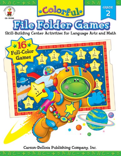 Colorful File Folder Games, Grade 2