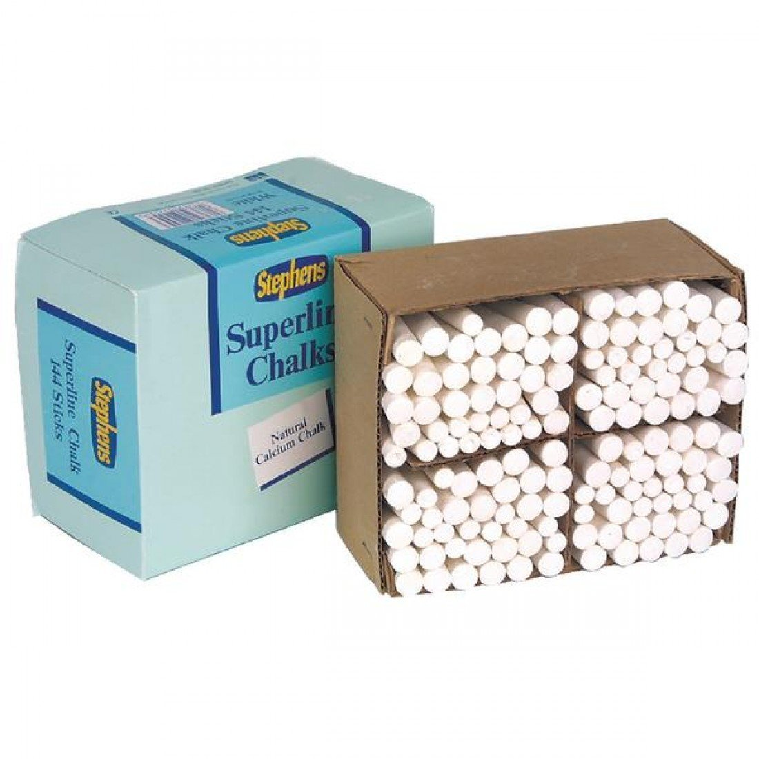 Stephens Superline RS522553 white chalk sticks, BOX of 144 CEOND505116