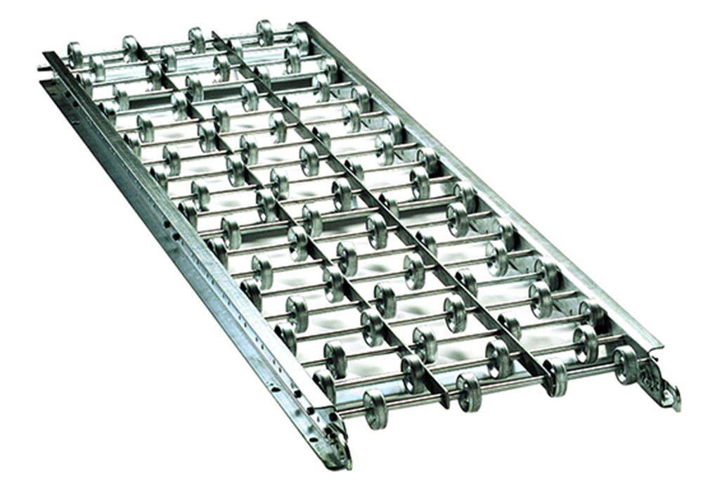 Ashland Conveyor A24X20X05A Aluminum Skatewheel Conveyor, 24'' Overall Width, 5' Length, 20 Wheels/Feet with 3'' Axle Centers