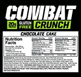 Muscle Pharm Combat Crunch Supplement, Chocolate Cake, 12 Count, 26.67 Ounce