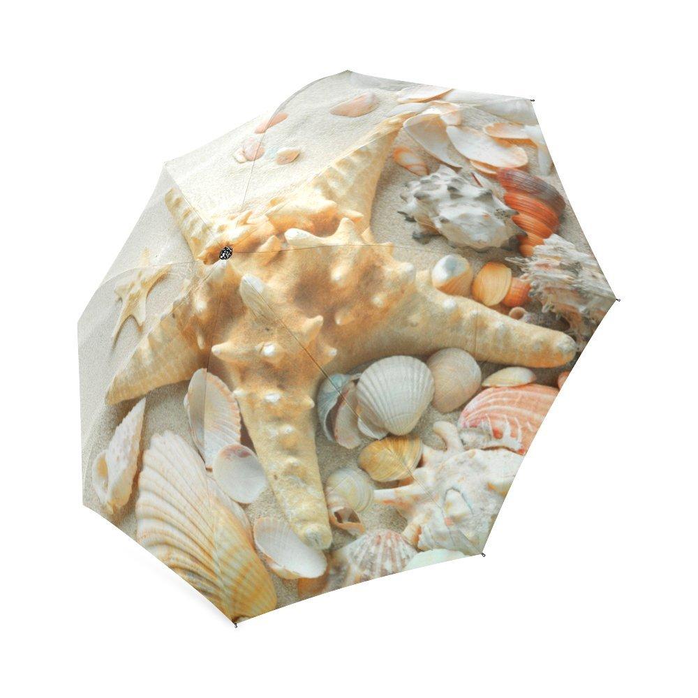 Starfish umbrella Custom Auto Foldable Sun and Rain Umbrella Anti-UV good