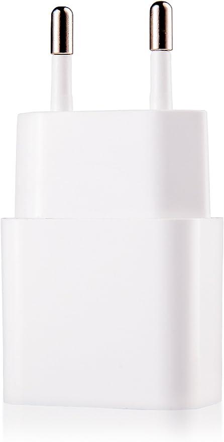 USB Adaptador 5V // 2A Apple iPad iPhone MyGadget Cargador Plug Universal Tablet Samsung - Enchufe de Pared Sincro /& ej Negro