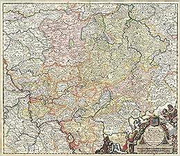 Historische Karte Das Land Hessen 1696 Landgraviatus Hassiae