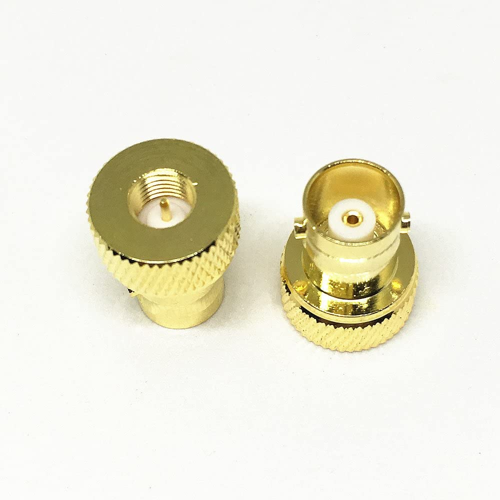 100Pcs Gold Plated Brass SMA Male to BNC Female Connector BNC-F to SMA-M RF Coaxial Coax Adapter