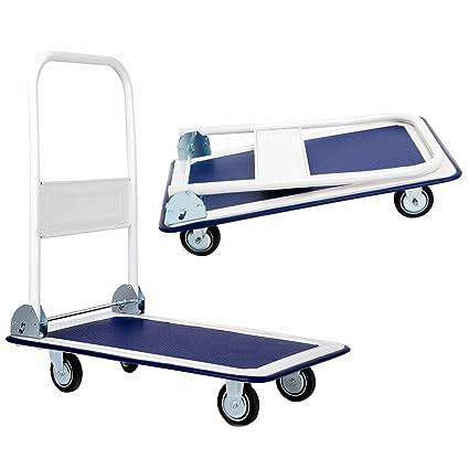 6fed5652538e Amazon.com: RP New 330lbs Folding Platform Cart Dolly Warehouse ...