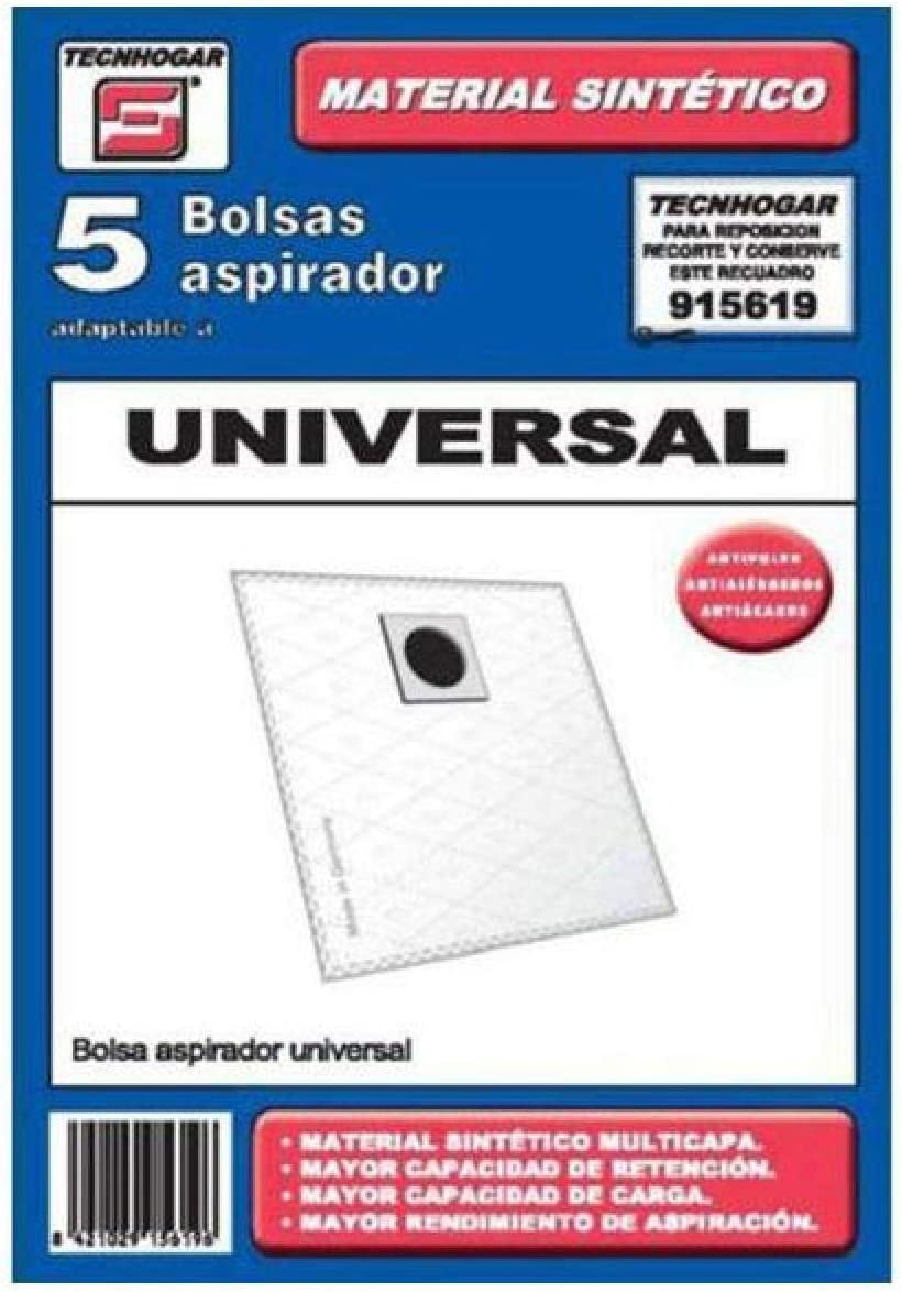 Tecnhogar 915619 Bolsa aspirador, Blanco: Amazon.es: Hogar