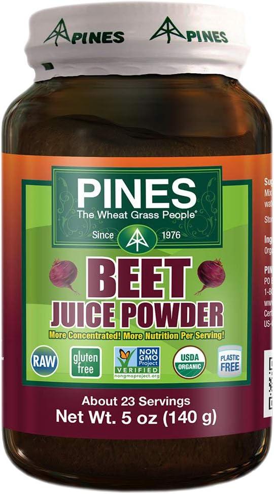 PINES Organic Beet Juice Powder, 5 Ounce
