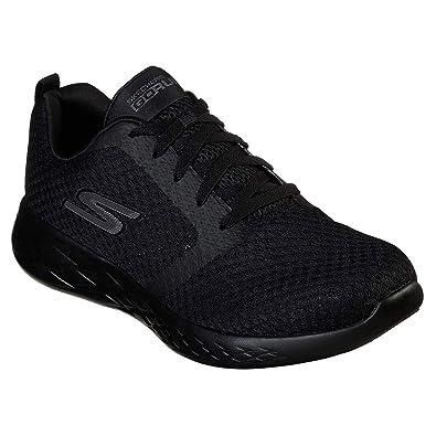 f808e1ebee49d Skechers Men's GO RUN 600 Slip On Trainers, Black (Black Textile/Trim Bbk