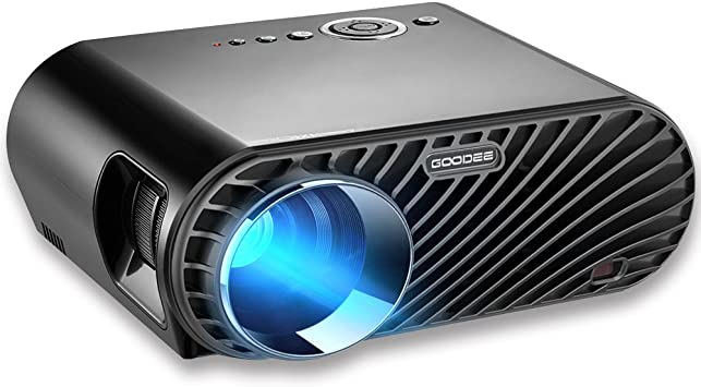 Projector, GooDee 3200 Lumens Video Projector 180