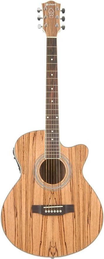 Chord n5z nativo – Guitarra electroacústica con chapa de madera de ...