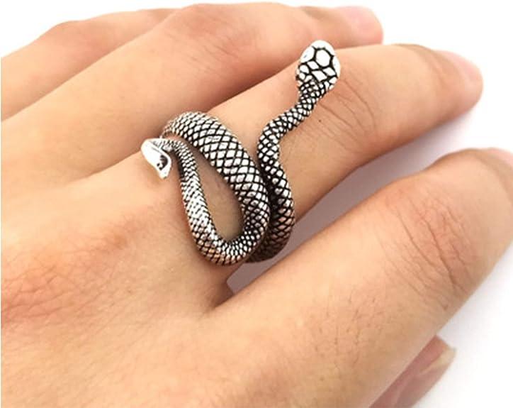 Set of 2 Snake Ring for Women Reptile Serpent Ring Gift for Snake Lover Reptile Lover Gifts