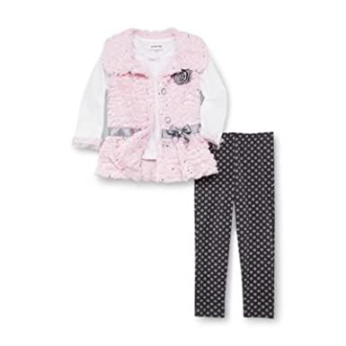 847e83d6deb15 Amazon.com: WonderKids Infant & Toddler Girl's Top Vest & Leggings ...