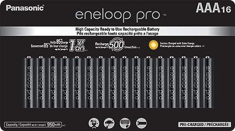 Amazon.com: Panasonic BK-4HCCA16FA eneloop Pro AAA - Pilas ...