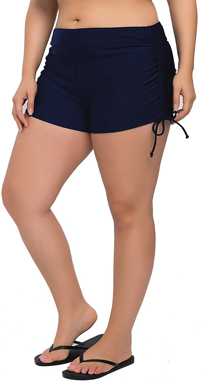Sociala Women's Plus Size Swim Shorts Boyleg Swimsuit Bottoms Beach Boardshorts
