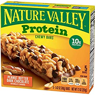 Nature Valley Chewy Granola Bars, Peanut Butter Dark Chocolate, 5 ct, 4 Boxes, 7.1 oz