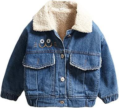 Girls Winter Long Sleeve Button Sherpa Jacket Coat Pockets Childs Warm Fleece
