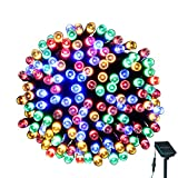 Solar String Lights Outdoor - LOENDE 72ft 200LED 8 Modes Waterproof Multi Color Decorative Lights Christmas Lights for Christmas Tree Indoor Outdoor Garden Party Wedding Decorations