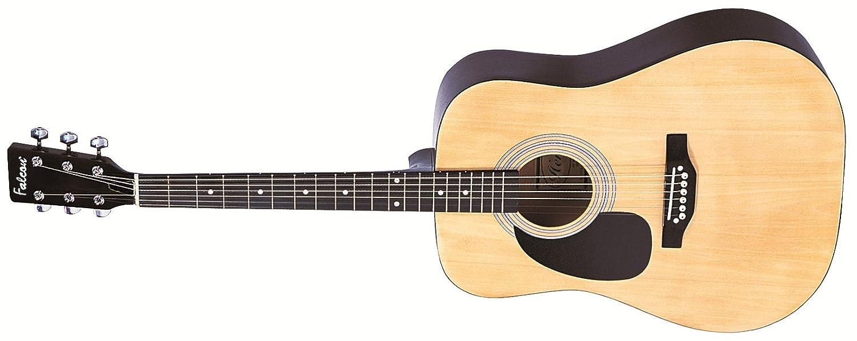 Falcon LFG100N - Guitarra acústica con cuerdas metálicas (tilo, para zurdos), color natural: Amazon.es: Instrumentos musicales