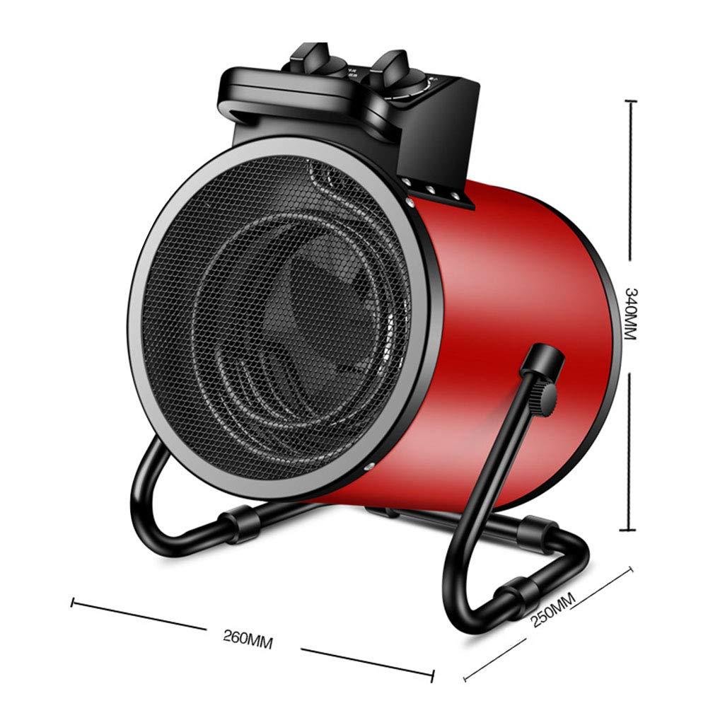 QAQ Appareils De Chauffage Domestiques Fil De Chauffage /électrique Bouton De Commande /à Trois Vitesses 9000W,Red,2000W