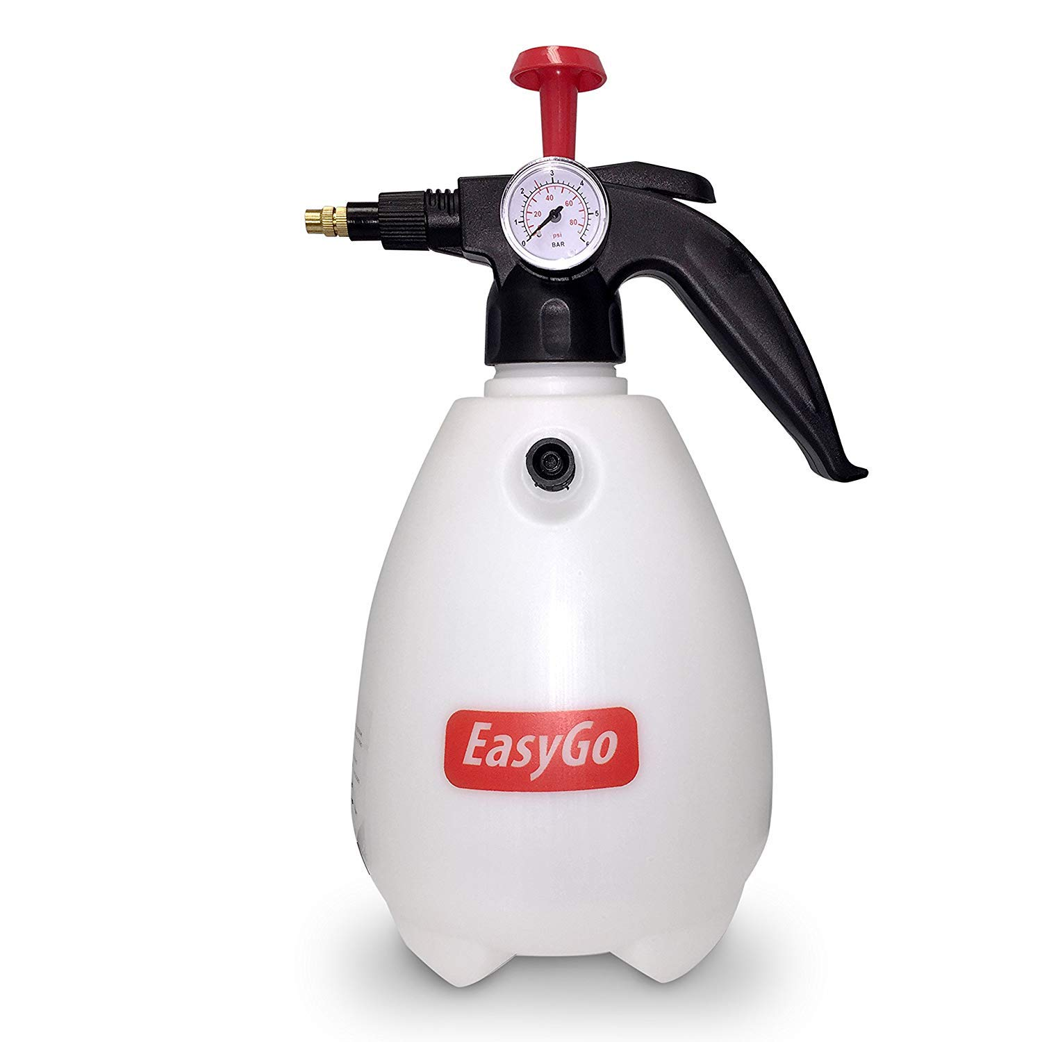 EasyGo Spray Bottle 2 Liter (68 Ounces) Hand Pump Pressure Sprayer W/Pressure Gauge – Mister Setting - Great for Gardening, Fertilizing, Cleaning & General Use Spraying Water - Chemicals - Pesticides