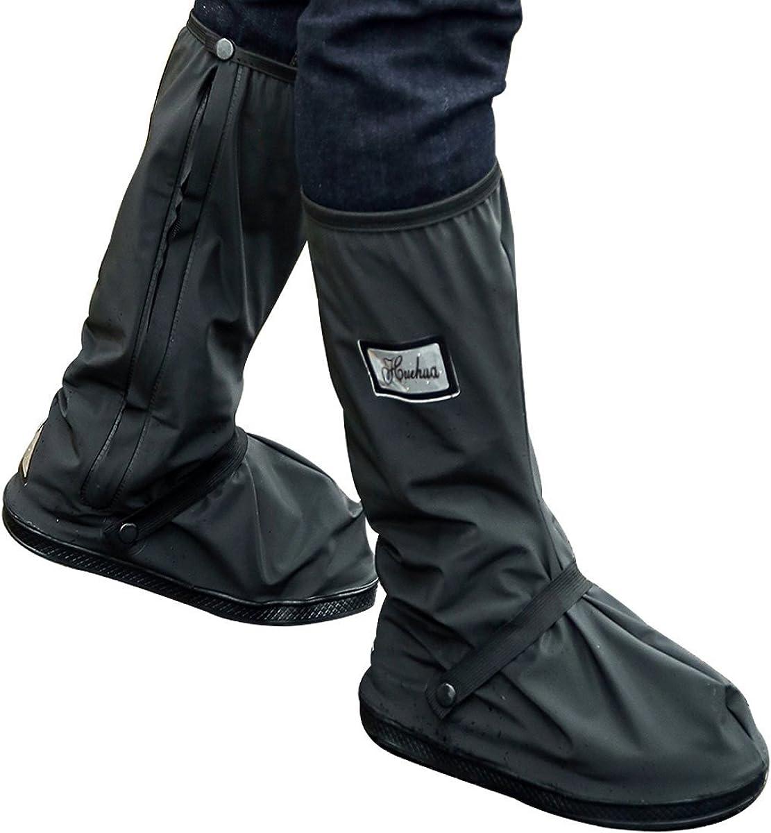 cubierta de zapatos a prueba de agua con cremalleras resistentes y tacones reflectantes Sharbay Cubiertas para botas de lluvia