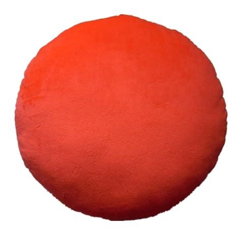 LI & HI 32 cm con forma de emoticono amarillo cojín redondo almohada de peluche de felpa suave toy-independent envasado al vacío (ira)