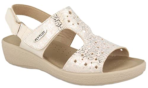 Made Italy Strappi 55d69 In Flot Sandali Bianco Hb Donna Due Fly rdtsQh