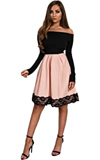 428f710e5fe0 Ikrush Womens Nika Lace Skater Dress: Amazon.co.uk: Clothing