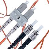 SC to ST Fiber Patch Cable Multimode Duplex - 15m