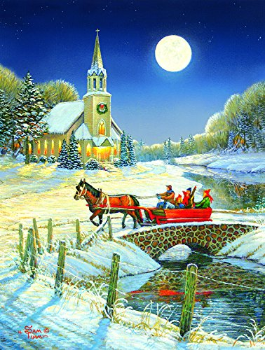 Evening Sleigh 500 Piece Jigsaw Puzzle by SunsOut