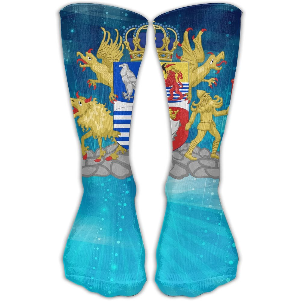 Design Coat Of Arms Of Iceland Vintage Art Knee High Socks For Women &Girl