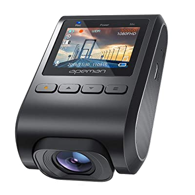 APEMAN Mini Dash Cam with Discreet Design, 1080P Full HD Dash Camera for Cars, Car Camera with G-Sensor, 170° Wide Angle, Motion Detection, Parking Mode, Loop Recording: Car Electronics
