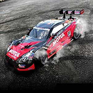 Super GT RC Sport Racing Drift Car 1:16 Remote Control Module 4WD RTR with 6 Battery and Drift tires