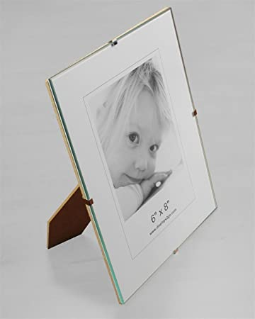 Amazoncom Displays2go Tempered Glass Spring Clip Photo Frame With