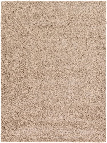 Unique Loom Solo Solid Shag Collection Modern Plush Taupe Area Rug (8' 0 x 11' 0) Brown 8'0'x11'0' Rectangular Rug