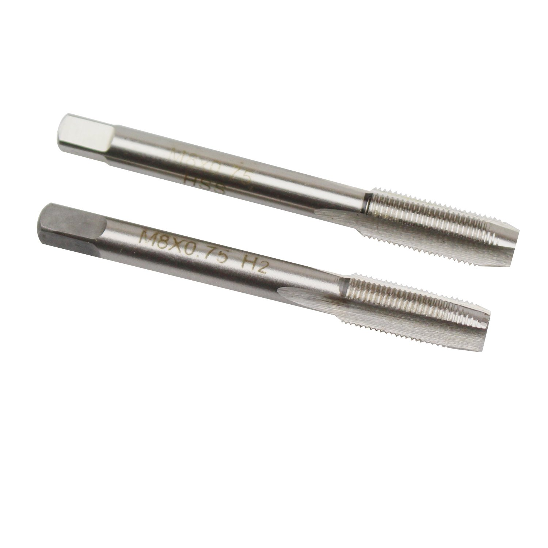 8mm X 0.75 Taper and Plug Tap M8 X 0.75mm Pitch