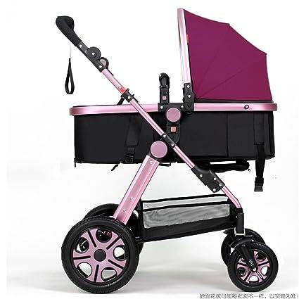 QWM-Las bicicletas infantiles para bebés Carrito de bebé recién nacido plegable puede sentarse y