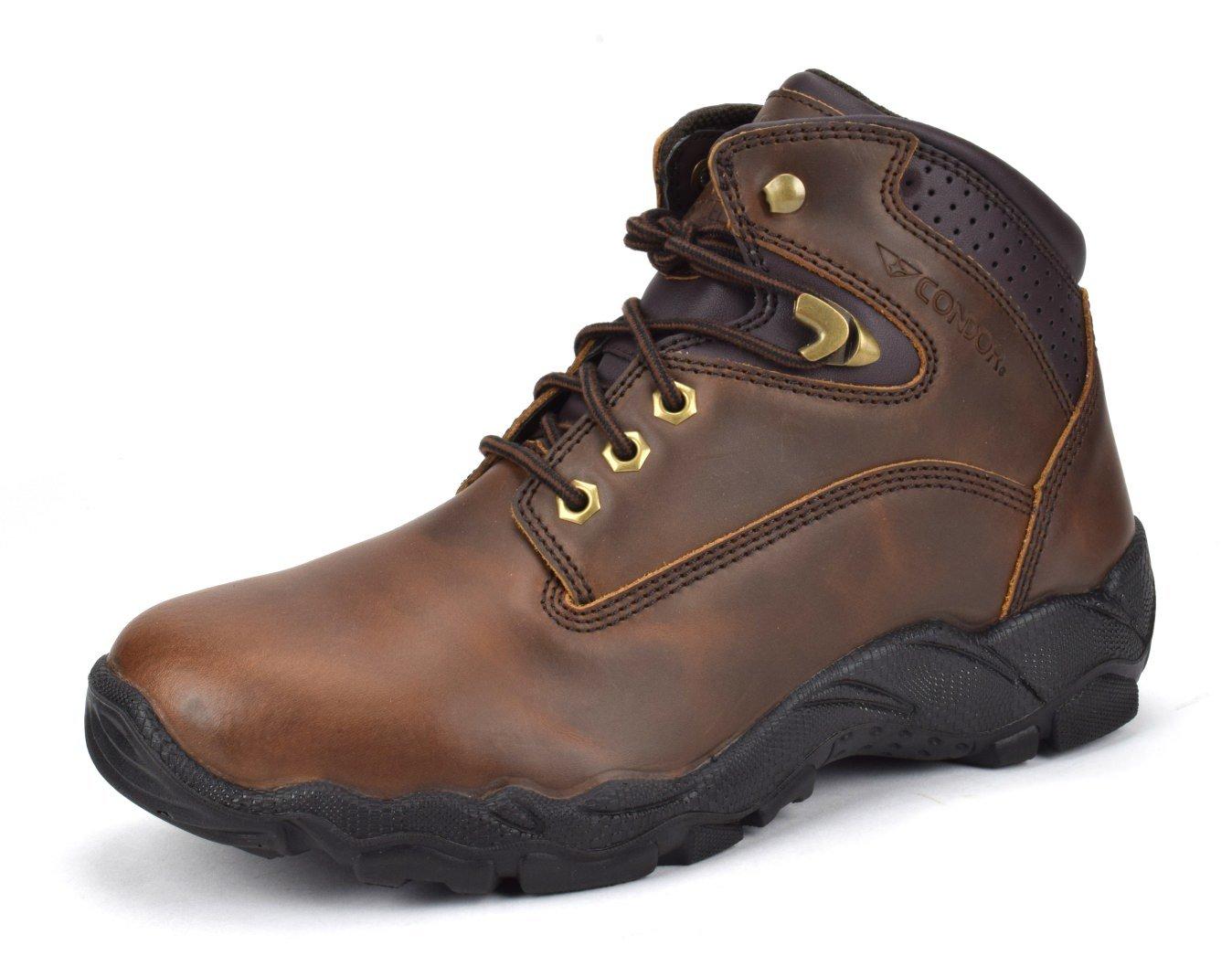 CONDOR Idaho Men's 6'' Steel Toe Work Boot - Brown, Size 10.5 E US by CONDOR