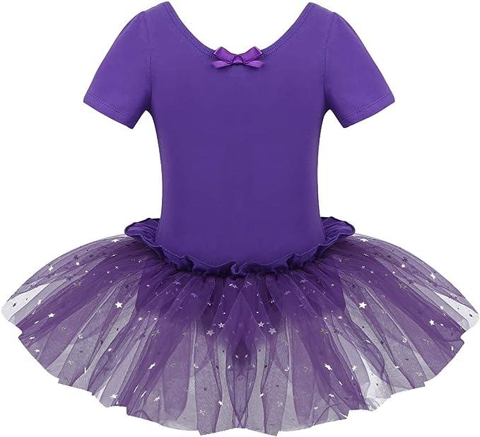 Agoky Vestido Tutú Maillot de Ballet Danza para Niña Vestido con ...