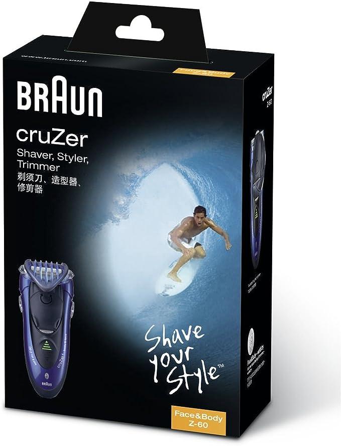 Braun - Afeitadora & Recortadora cruZer 4 Z60, azul: Amazon.es ...
