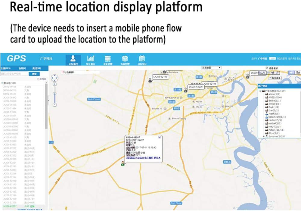 Multi-function LK208 GSM GPS Vehicle Tracker Global Position Service Platform