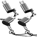 VPB 【4個セット】USB Type Cアダプタ Micro USB(メス) to Type-Cアダプタ 変換コネクタ 56Kレジスタ使用 Quick Charge対応 USBケーブル 新しいMacBook / LG G5 / HTC 10に対応 裏表関係なく挿せる 高速転送可能