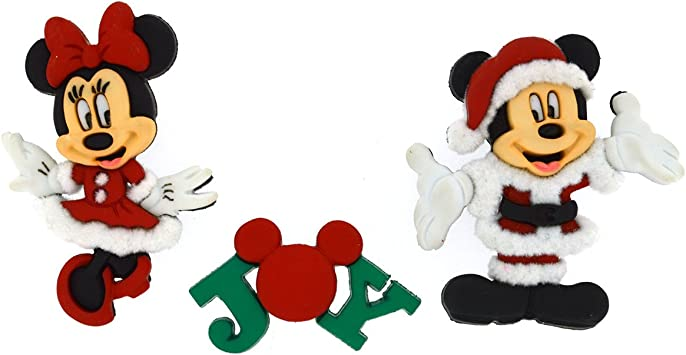 Disney Boy Girl Mouse Heads Dress It Up Craft Buttons MICKEY AND MINNIE